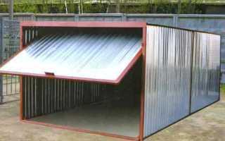 Разборный гараж и сборный: строим своими руками