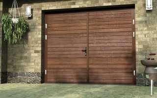 Ворота гаражные распашные: оптимальный вариант конструкции