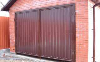 Металлические гаражные ворота: как сделать своими руками