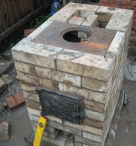 печь дровяная в гараже