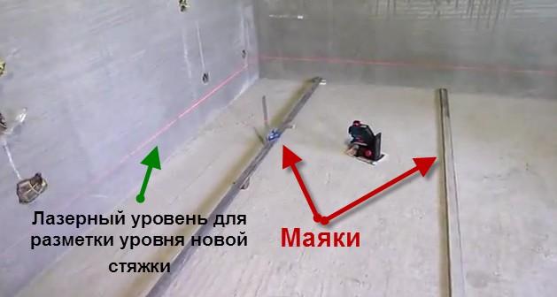 создание стяжки в гараже