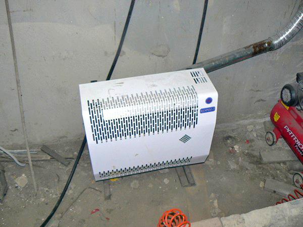 Конвектор в гараже