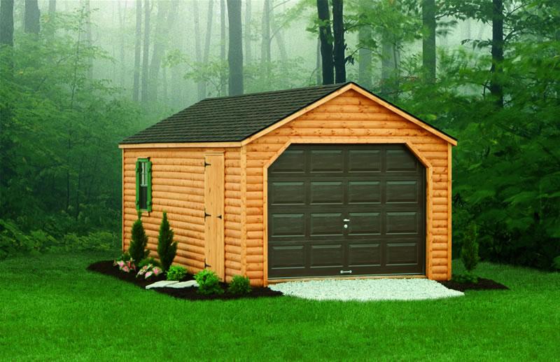 гараж в лесу
