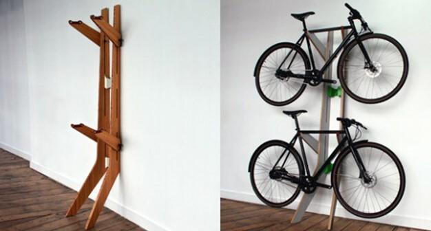 как подвесить велосипед в гараже