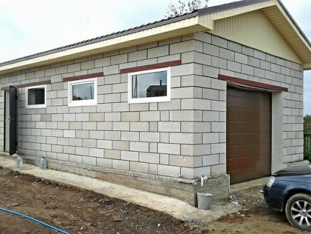 построенный гараж