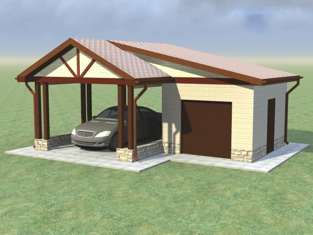 Небольшой гараж