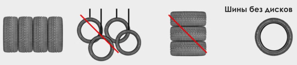 хранение колес без дисков
