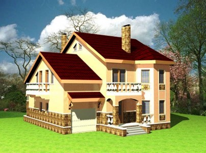 загородный дом с гаражом