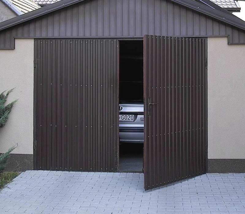 деревянные гаражные ворота