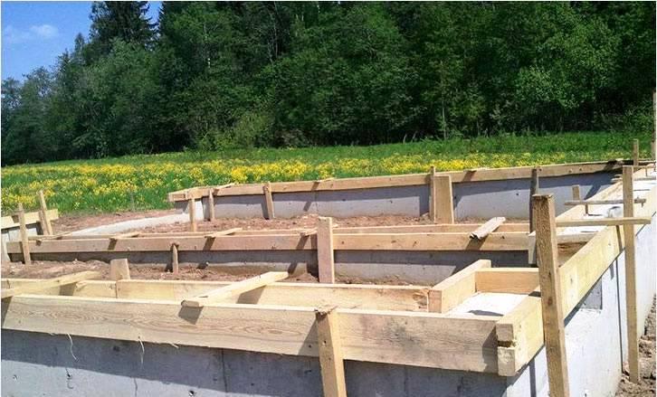 фундамент для гаража на даче