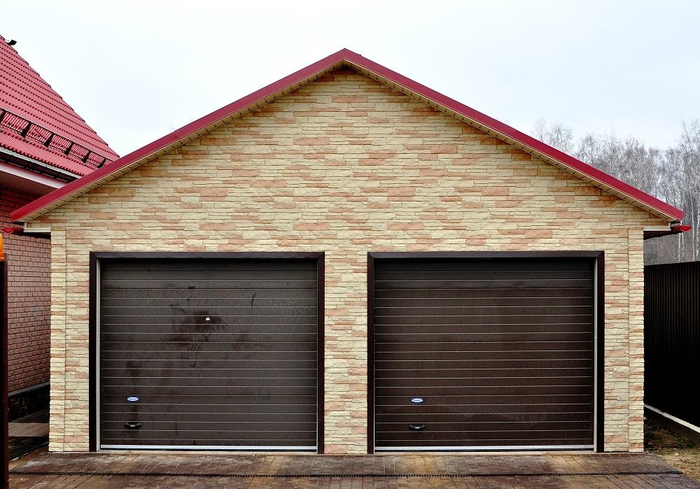 Удобная планировка гаража на две машины