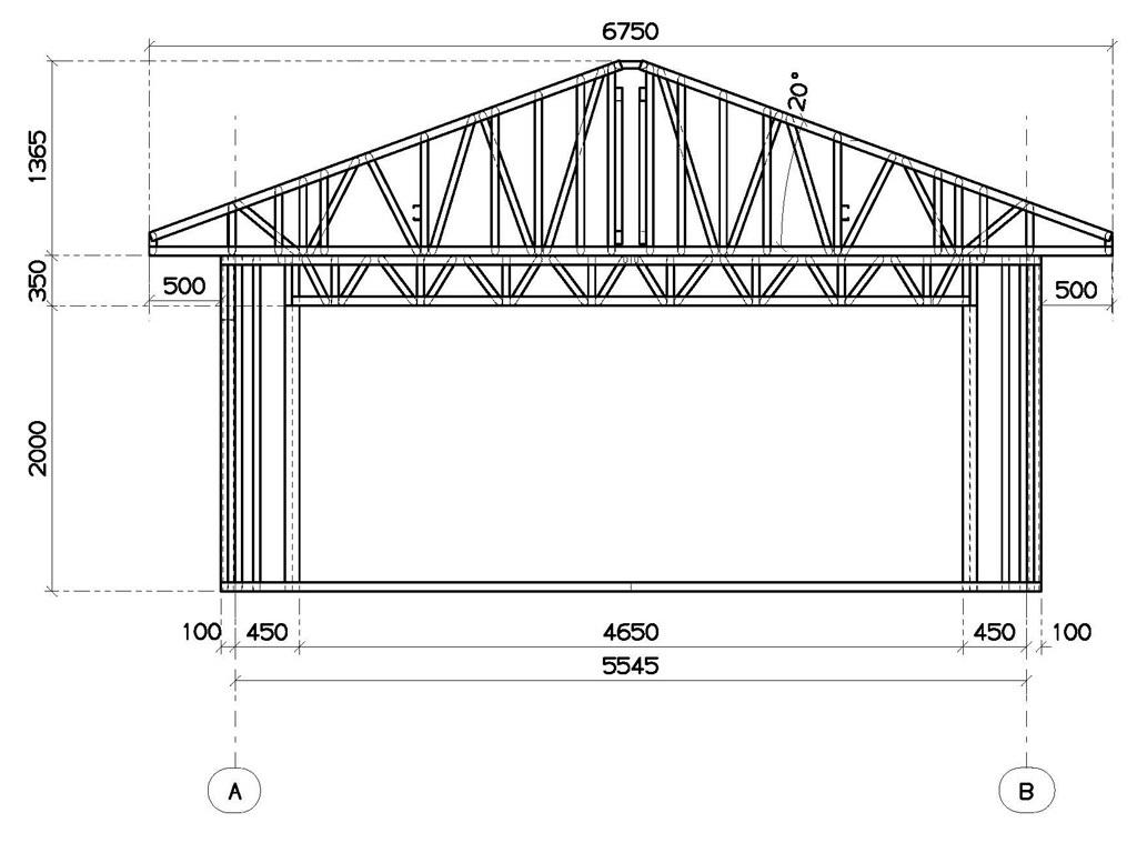 Схема построения гаража