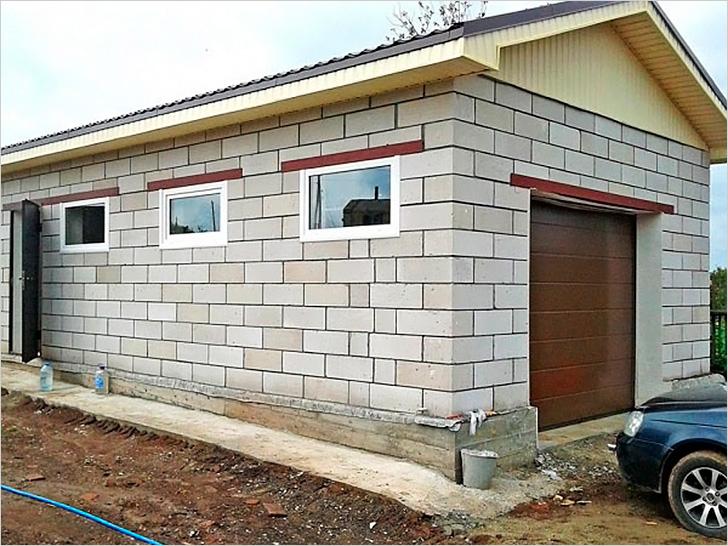 Газобетон является доступным и выгодным стройматериалом для гаража