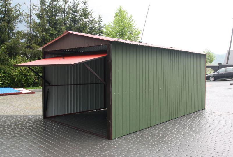 Легкий сборный гараж из металла