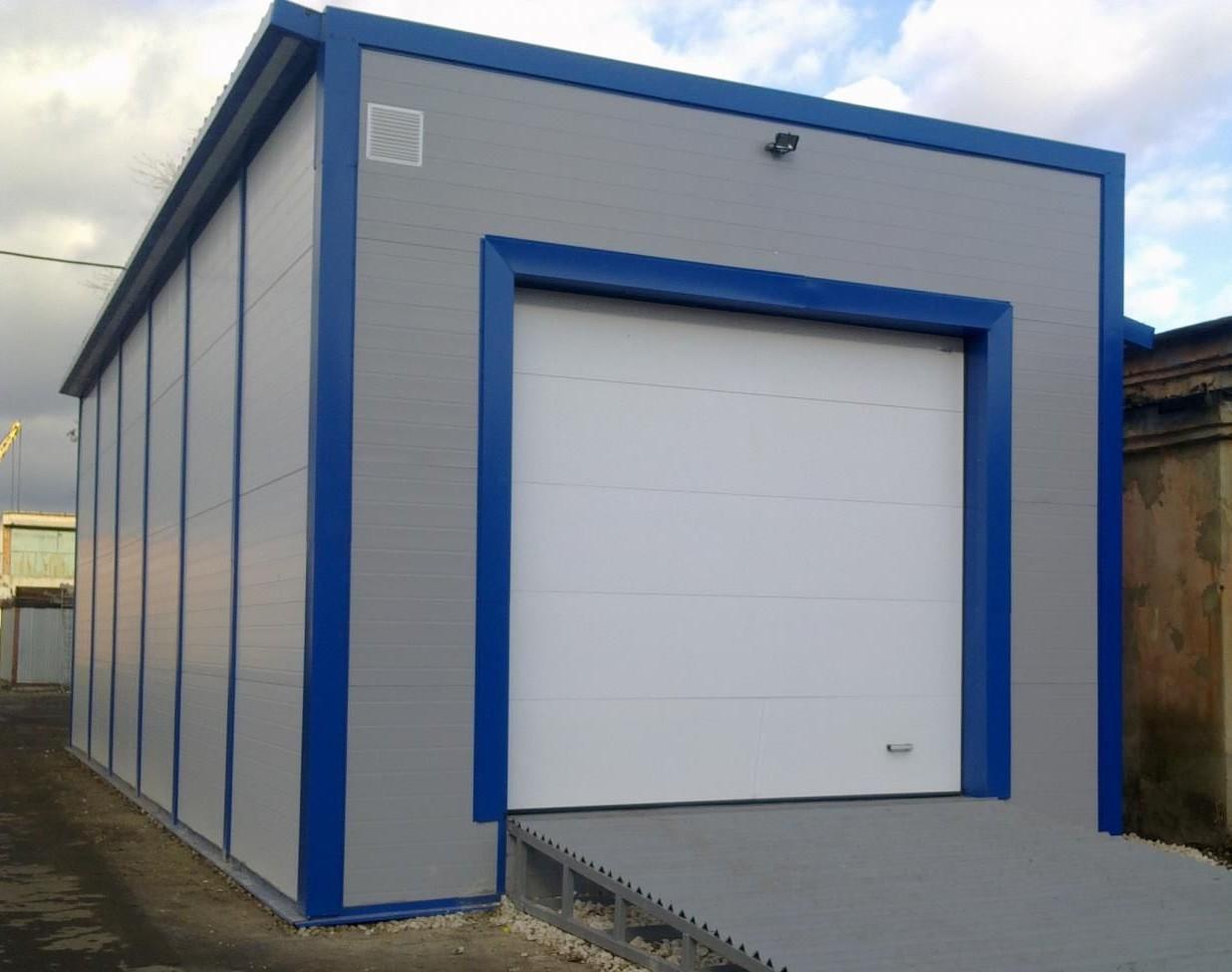 Каркасная технология позволяет быстро построить такой гараж