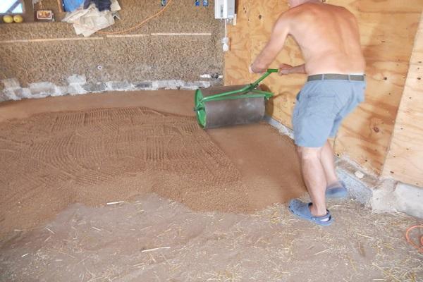 укатка песка