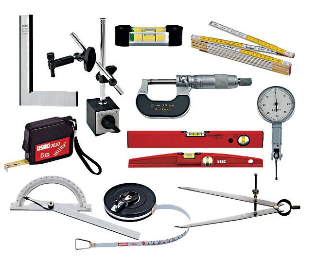 Рабочие инструменты для измерения величин обязательно нужны в арсенале строителя
