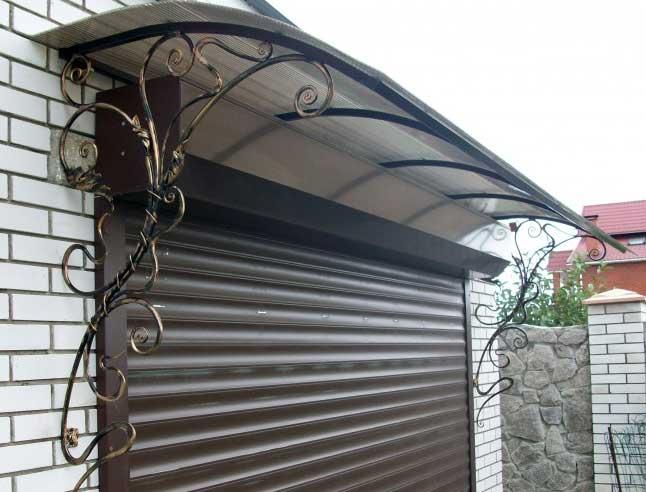 Козырек над гаражными воротами