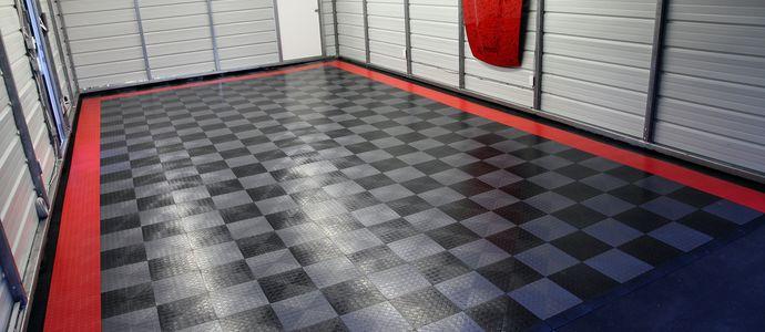 Износостойкое полимерное покрытие на полу гаража