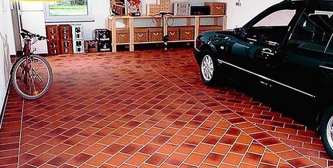 Клинкерная плитка в гараже