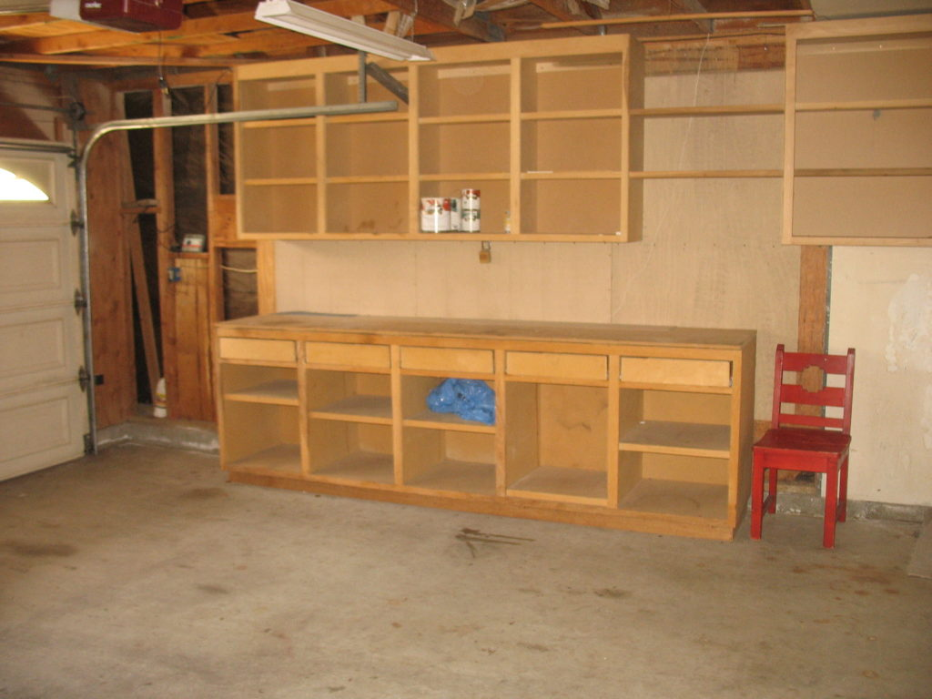 шкафы в гараже