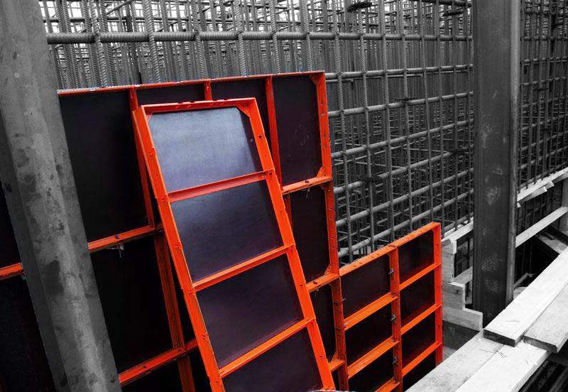 Алюминиевый щит для формирования бетонных стен просты в использовании