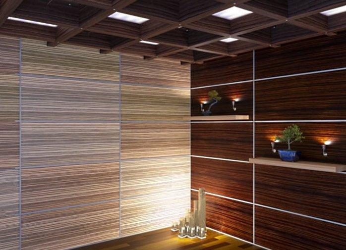 Декоративные панели создают потрясающий интерьер