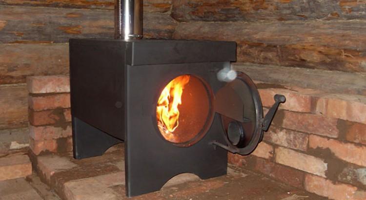 Печка дровяная является самой экономной и практичной