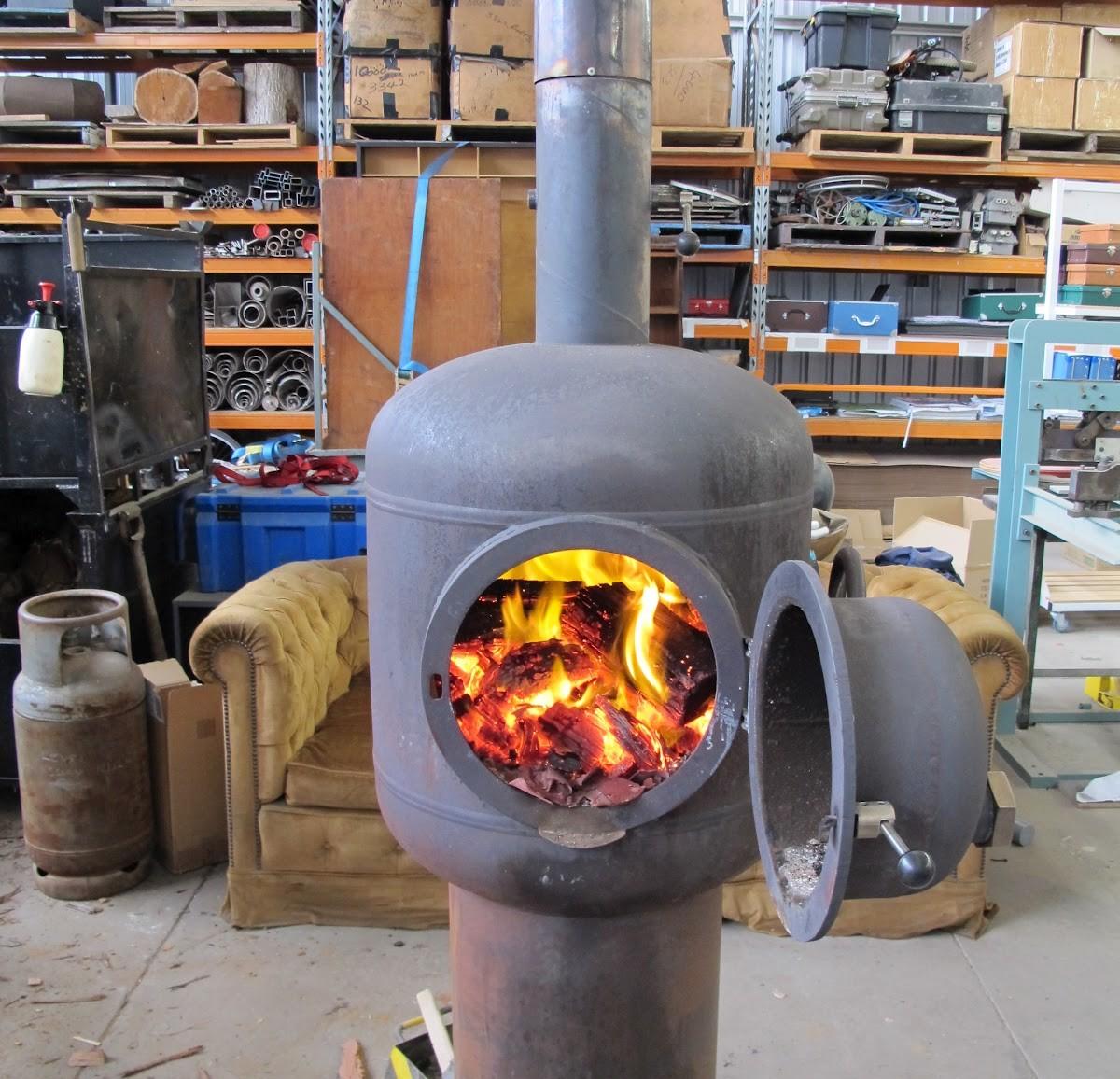 Дровяная печь экономна для обогрева гаража