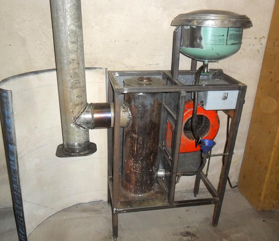 Самодельная печь на отработанном масле выгодна и практична