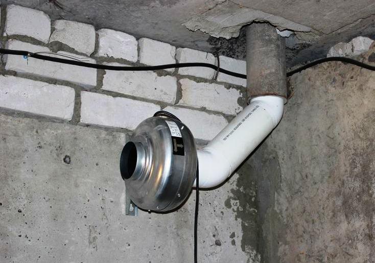 комбинированное вентилирование в гараже