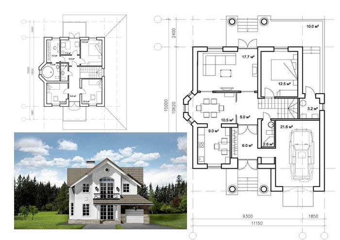 Встроенный гараж очень выгоден для загородного дома