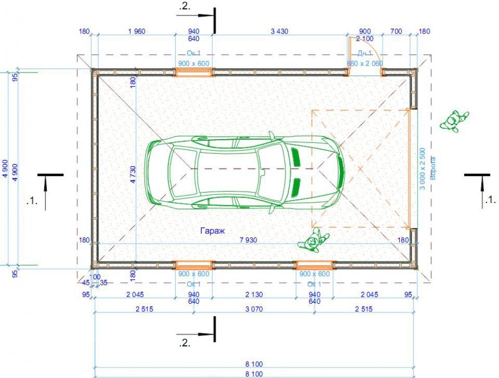 Паркинг для одной легковой машины