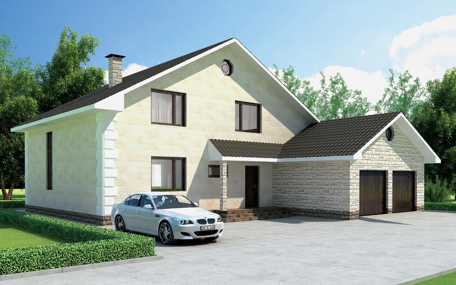 Типичная планировка дома на участке обязательно включает в себя гараж