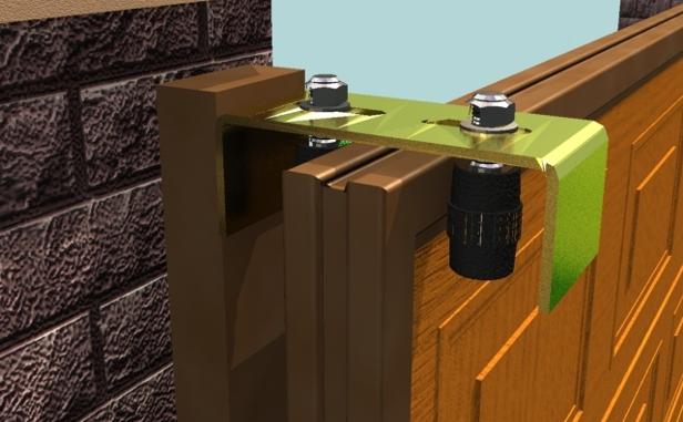Откатные двери оснащены специальным роликовым механизмом