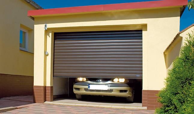 Роллеты экономят пространство в гараже