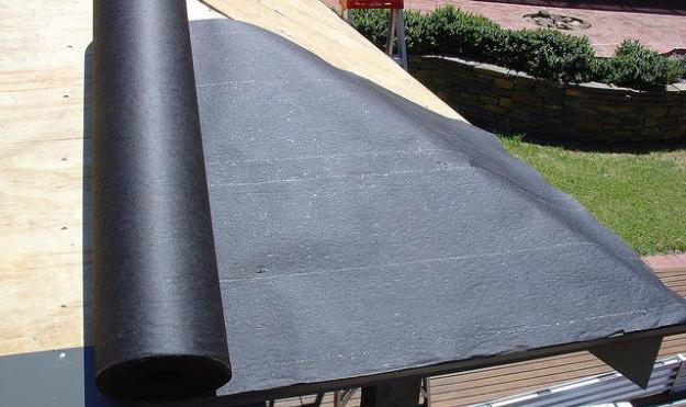 рубероид на крыше