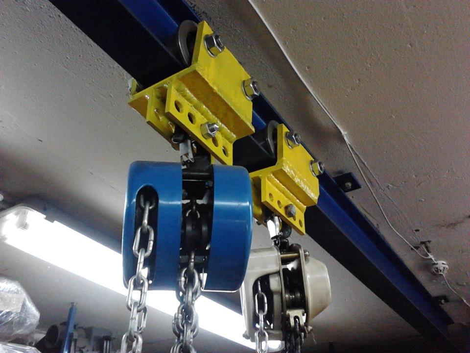 Для гаража можно самому сделать подъемную балку-кран