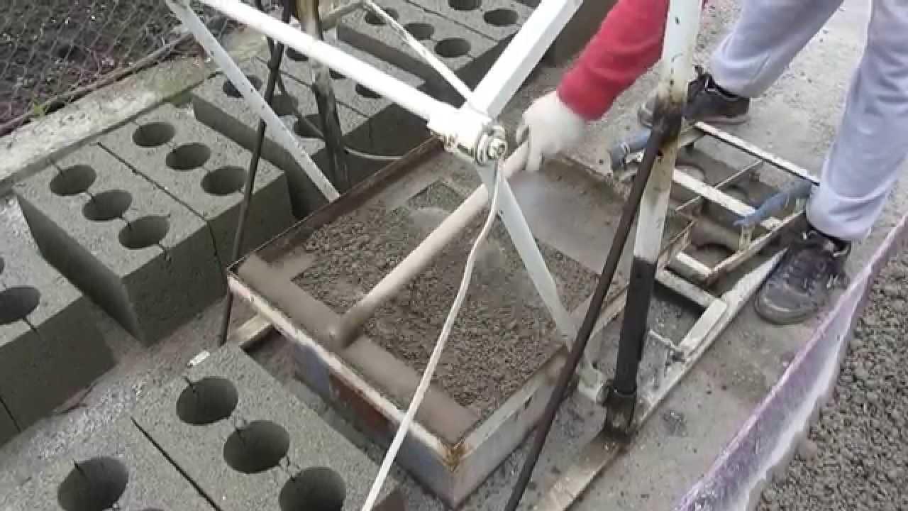 Самодельное устройство для производства блоков легко сделать своими руками