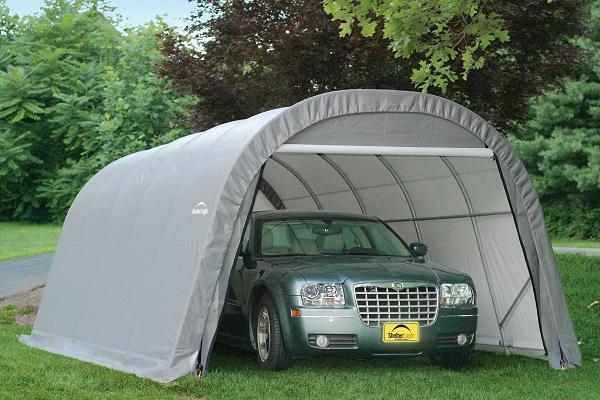 машина в палатке