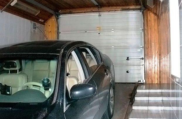 въезд в подземный гараж