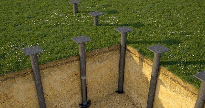 Винтовый фундамент идеально подходит для легких сооружений