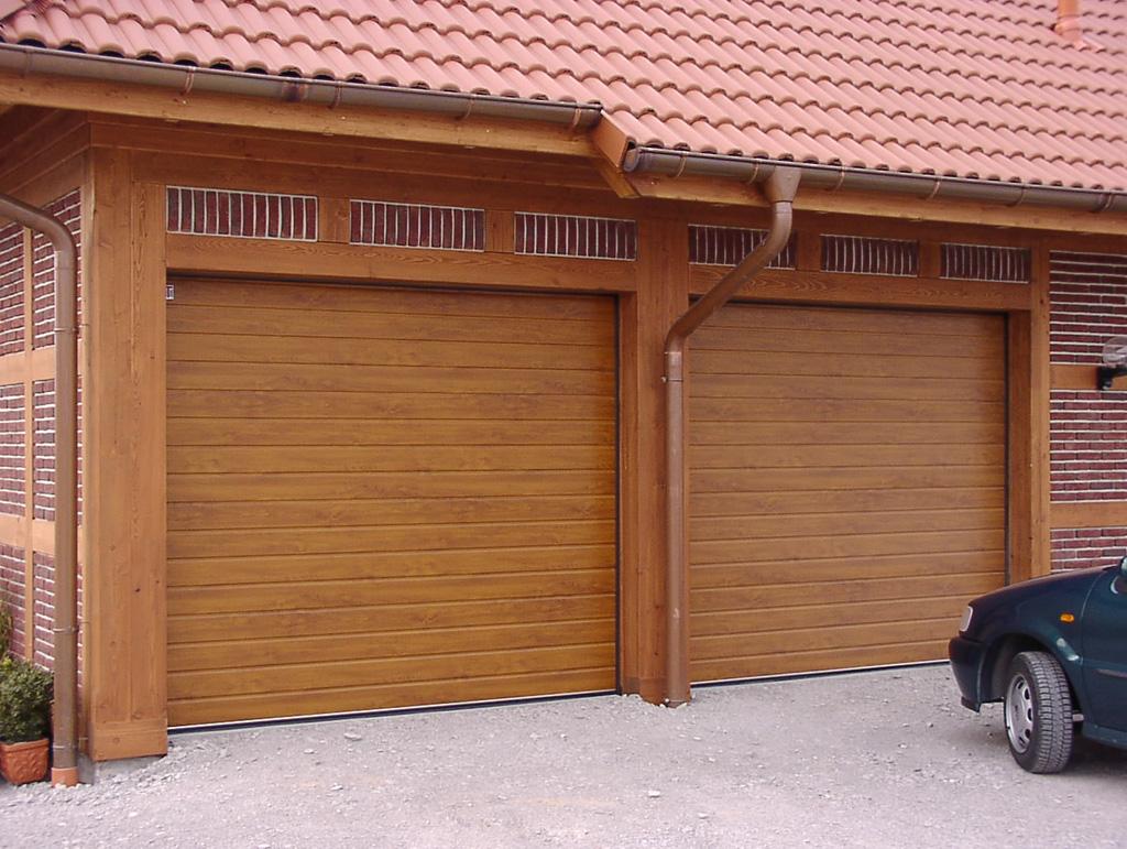 Ворота могут быть отделаны под любой натуральный материал