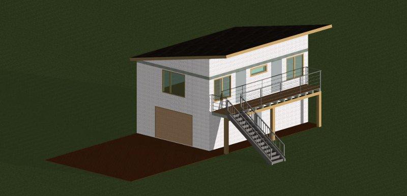 Второй этаж над гаражом
