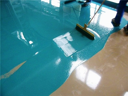 заливка полимерного покрытия
